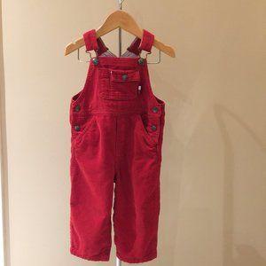 TOMMY HILFIGER Vintage Infant Red Overalls 12-18 M